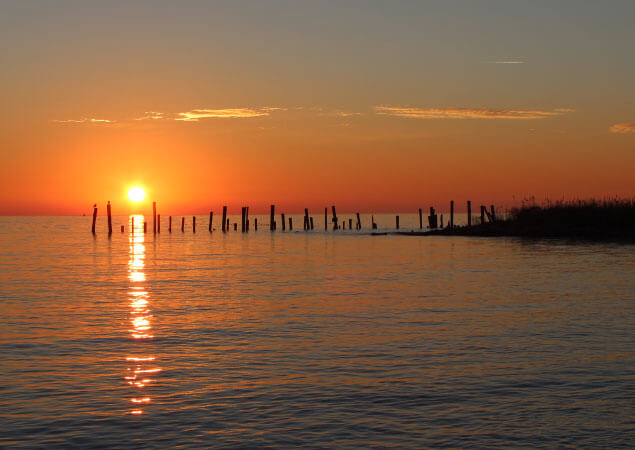Sunrise at Port Mahon Road in Delaware by Anthony Gonzon